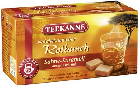Teekanne Rotbuschtee Sahne Karamell
